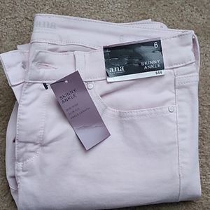 A.n.a. distressed skinny jeans